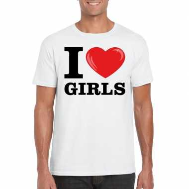 I love girls t-shirt wit heren