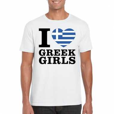I love greek girls t-shirt wit heren