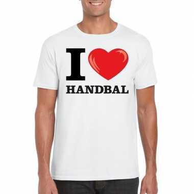 I love handbal t-shirt wit heren