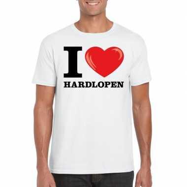 I love hardlopen t-shirt wit heren
