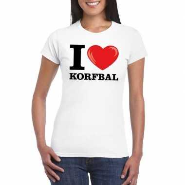 I love korfbal t-shirt wit dames