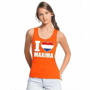 I love maxima hemdje oranje dames