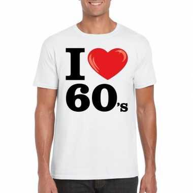 I love sixties t-shirt wit heren