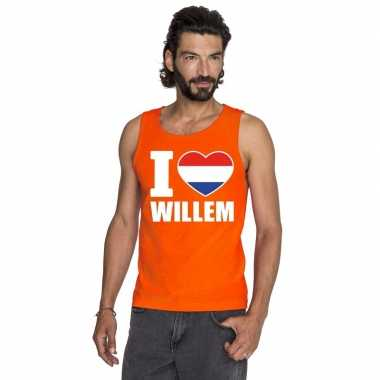I love willem shirt zonder mouwen oranje heren