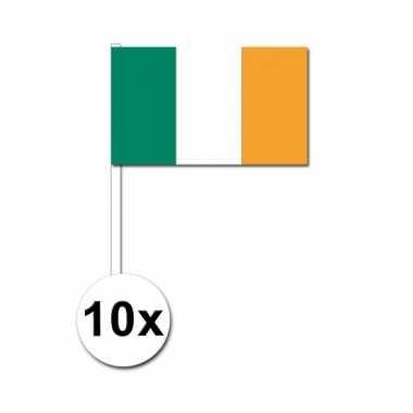 Ierland zwaai vlaggetjes 10 stuks