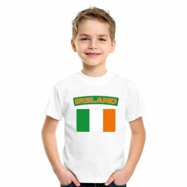 Ierse vlag kinder shirt wit