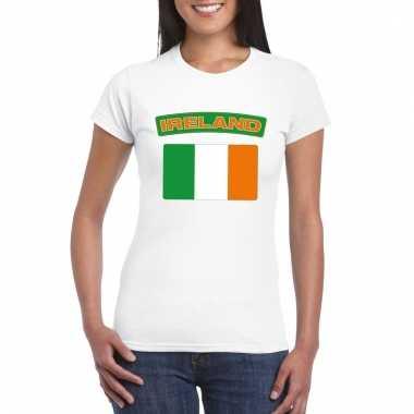 Ierse vlag shirt wit dames