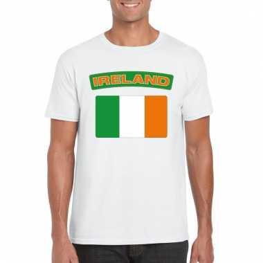 Ierse vlag shirt wit heren