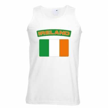 Ierse vlag singlet wit heren
