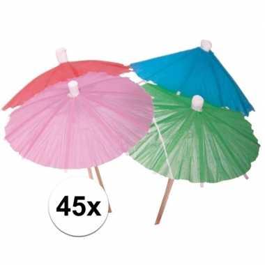 Ijs parasols 45 stuks