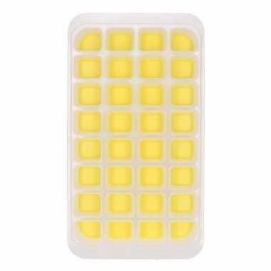 Ijsblokjes vorm 32 blokjes geel