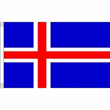 Ijslandse vlag mini 60 x 90 cm