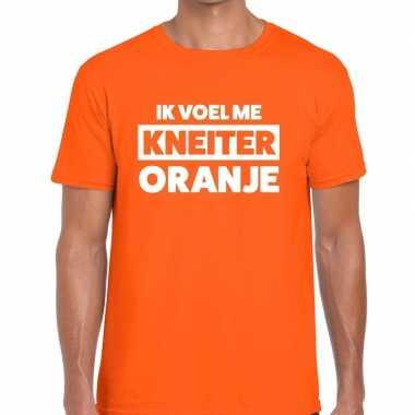 Ik voel me kneiter oranje koningsdag t-shirt heren