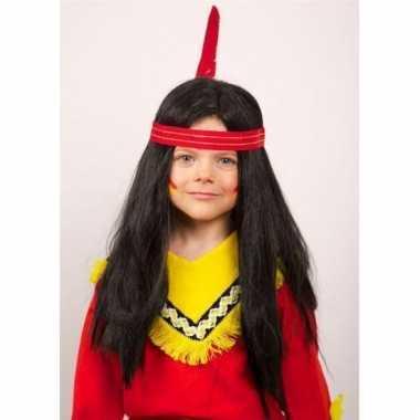 Indianen feestpruiken lang kind