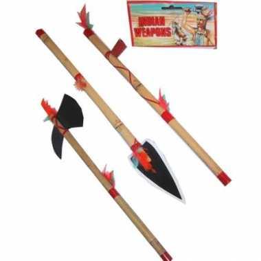 Indianen speelgoed speer + bijl