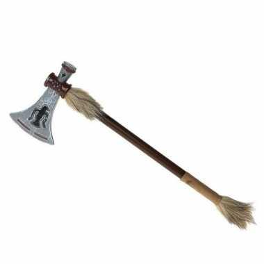 Indianen verkleed wapen/bijl tomahawk 47 cm