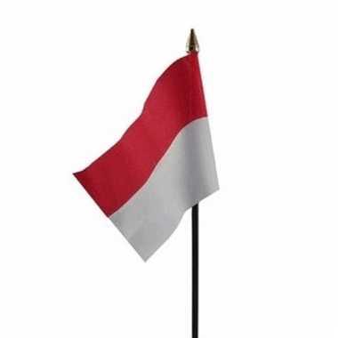 Indonesische landenvlag op stokje