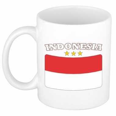 Indonesische vlag koffiebeker 300 ml