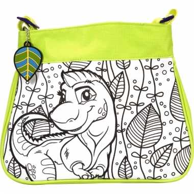 Inkleurbare dinosaurus tas voor kinderen