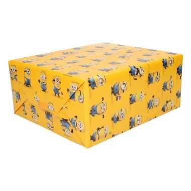 Inpakpapier minions geel
