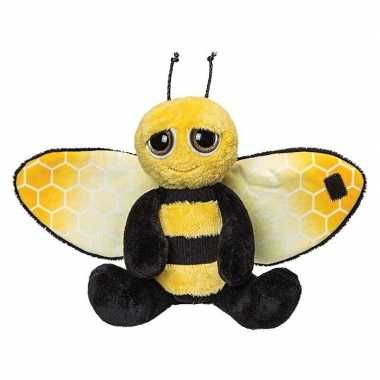 Insecten knuffels bij zwart/geel 18 cm