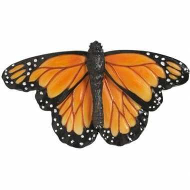 Insecten magneten monarch vlinder gekleurd 7 cm