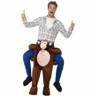Instap dierenpak kostuum aap voor volwassenen
