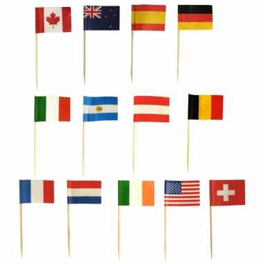 Internationale vlag prikkers 500 stuks