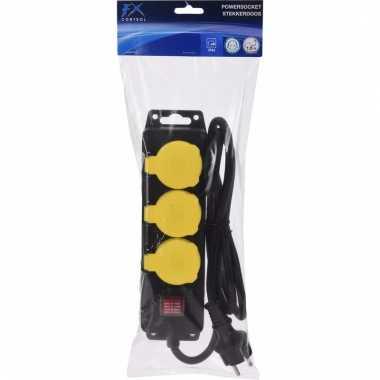 Ip44 stekkerdoos 3 stopcontacten