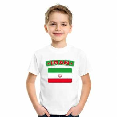 Iraanse vlag kinder shirt wit