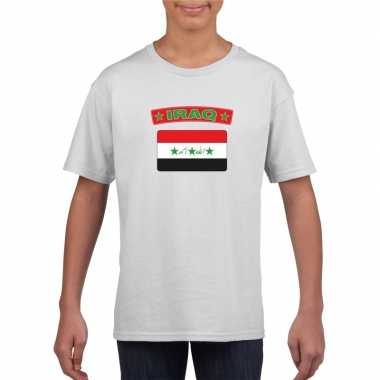 Irakese vlag kinder shirt wit