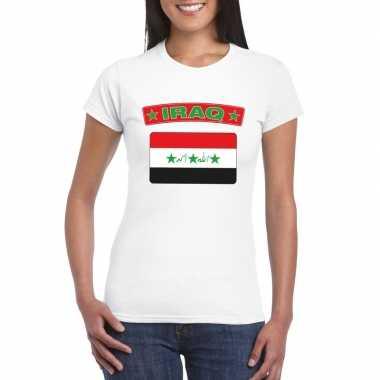 Irakese vlag shirt wit dames
