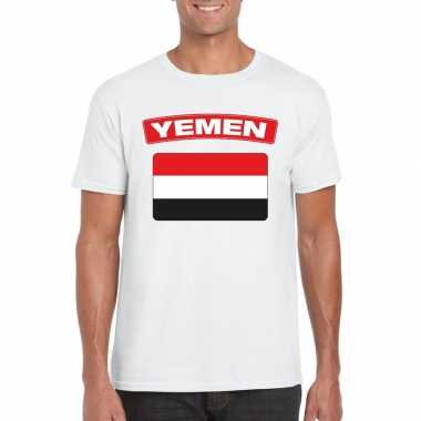Irakese vlag shirt wit heren