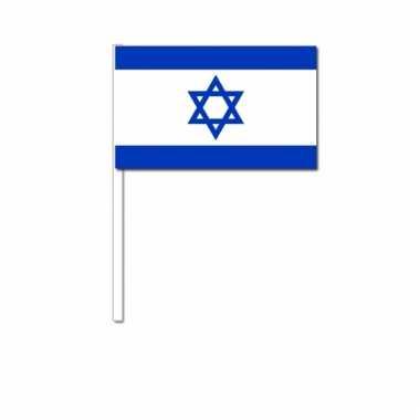 Israel zwaai vlaggetjes 12 x 24 cm