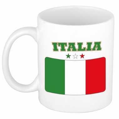 Italiaanse vlag koffiebeker