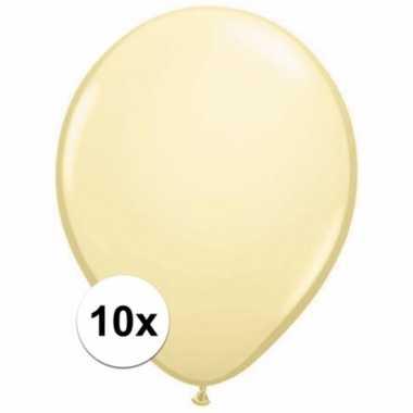 Ivoren ballonnetjes 10 stuks
