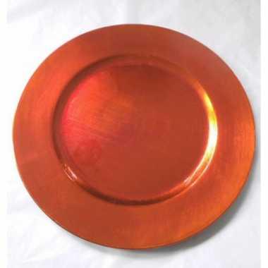 Kaarshouder oranje rond 33 cm
