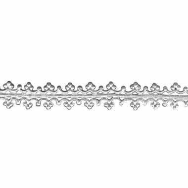 Kaarsversiering zilver 1,6 x 15 cm
