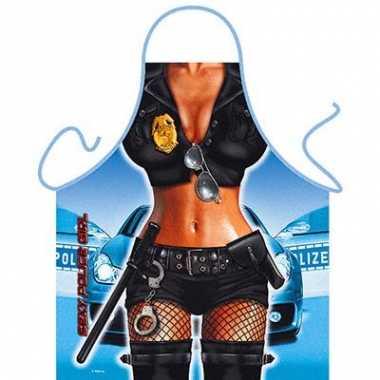 Kado artikelen schort police girl
