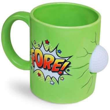 Kado koffiemok groen golffanaat