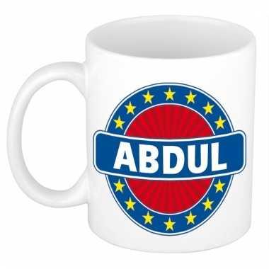Kado mok voor abdul