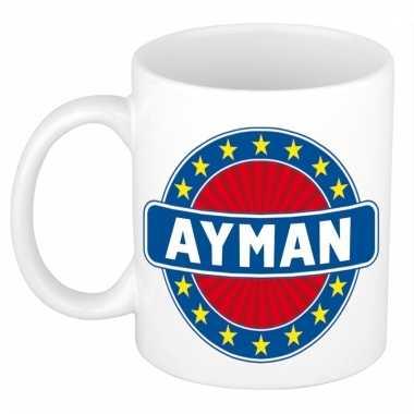 Kado mok voor ayman