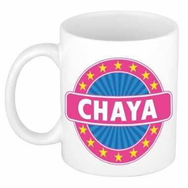 Kado mok voor chaya