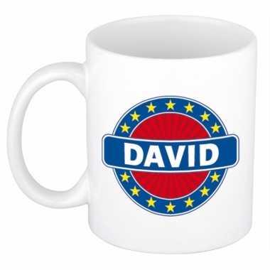 Kado mok voor david