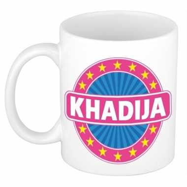Kado mok voor khadija