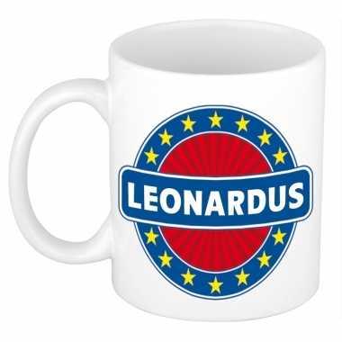 Kado mok voor leonardus