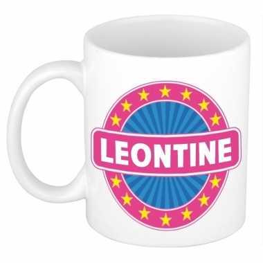 Kado mok voor leontine
