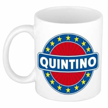 Kado mok voor quintino