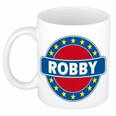 Kado mok voor robby