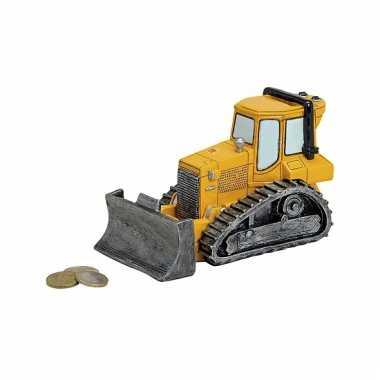 Kado spaarpot bulldozer 17 cm